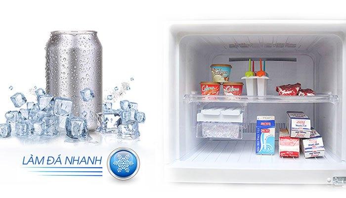 Tính năng làm lạnh và đá viên nhanh của chiếc tủ lạnh Sharp này sẽ giúp bạn vượt qua những cơn khát hiệu quả