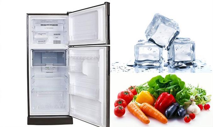 Tủ lạnh Sharp 196 lít SJ-X201E-SL thiết kế gọn gàng, hiện đại