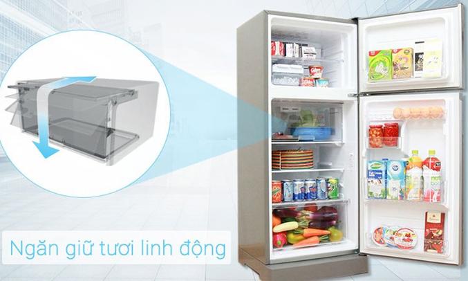 Tủ lạnh Sharp 196 lít SJ-X201E-DS ngăn trữ tươi linh hoạt, bảo quản thực phẩm tươi ngon