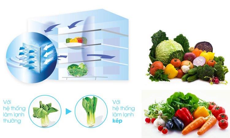 Hệ thống làm lạnh kép bảo quản thực phẩm tươi ngon mỗi ngày