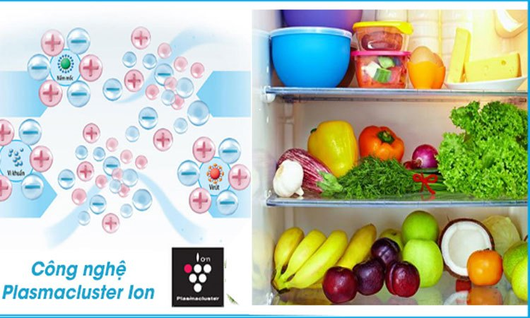Tủ lạnh Sharp 758 lít SJ-F5X75VGW-BK kháng khuẩn và khử mùi vượt trội