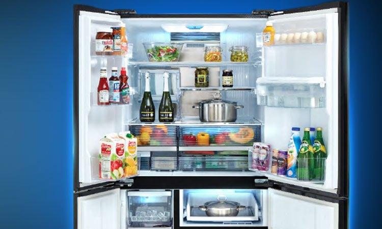 Tủ lạnh Sharp 758 lít SJ-F5X75VGW-BK không gian lưu trữ rộng thoáng