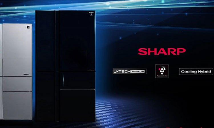 Tủ lạnh Sharp 758 lít SJ-F5X75VGW-BK thiết kế sang trọng và đẳng cấp