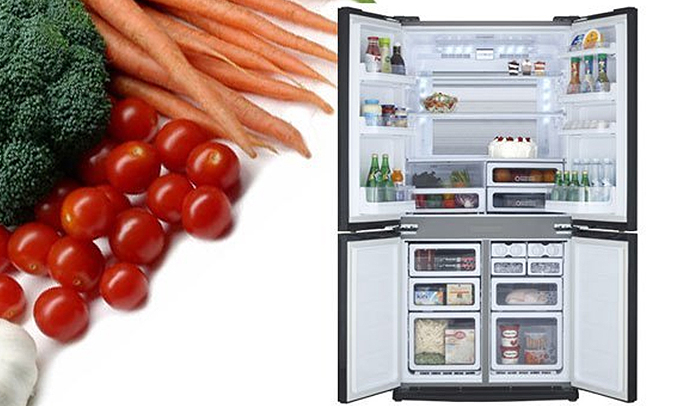 Tủ lạnh Sharp SJ-FX680V 605 lít dung lượng lớn