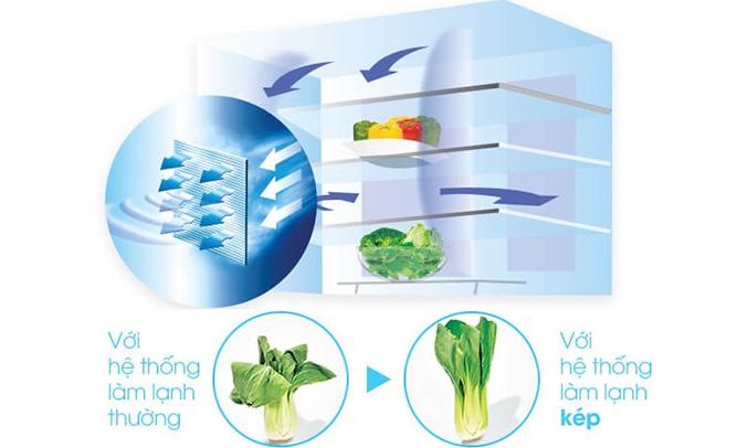 Tủ lạnh Sharp SJ-FX680V 605 lít giúp thực phẩm tươi ngon