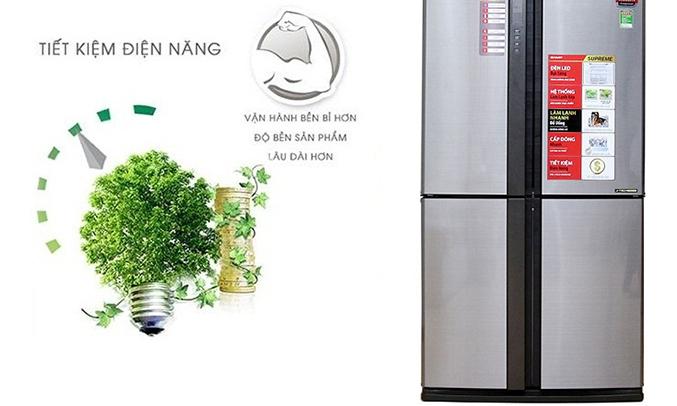 Tủ lạnh Sharp SJ-FX680V 605 lít tiết kiệm điện năng