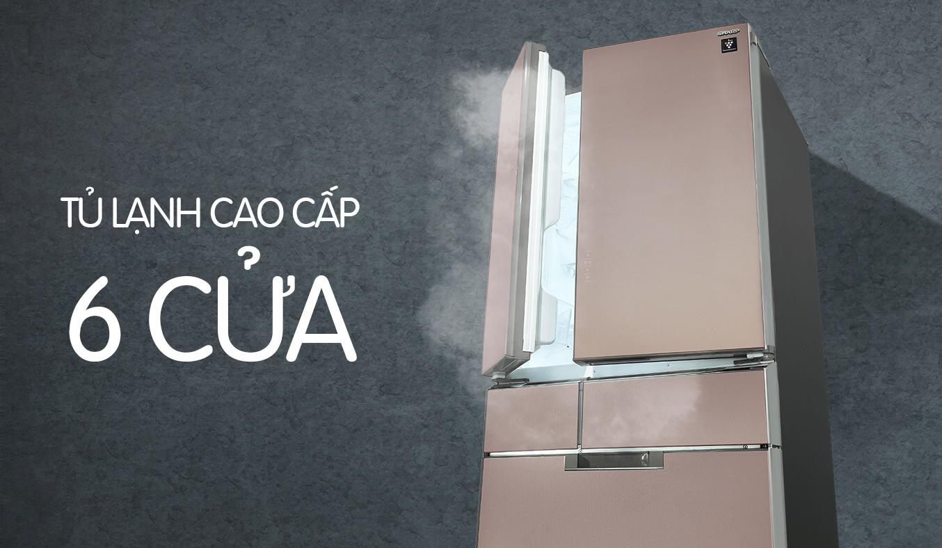 Tủ lạnh Tủ lạnh Sharp SJ-GF60A 470 lít 6 cửa