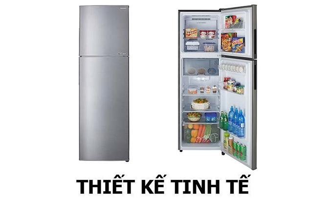 Tủ lạnh Sharp SJ-X281E-SL 253 lít thiết kế tinh tế/