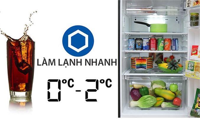 Tủ lạnh Sharp SJ-XP400PG-BK làm lạnh nhanh