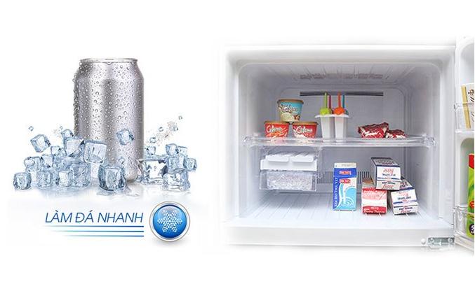 Tủ lạnh Sharp SJ-XP400PG-BK làm đá siêu nhanh