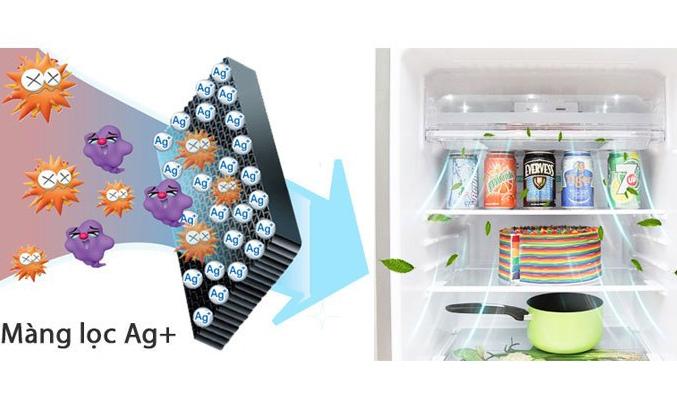 Tủ lạnh Sharp SJ-XP400PG-BK kháng khuẩn, khử mùi hôi hiệu quả