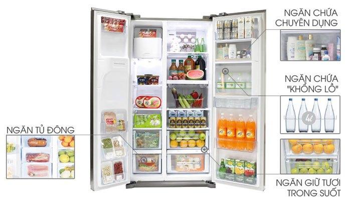 Tủ lạnh side by side của Sharp với sức chứa cực lớn