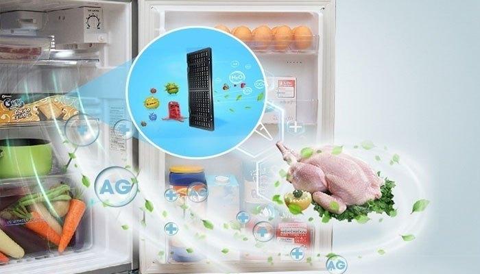 Mùi hôi từ các thực phẩm tươi sống sẽ được xử lý triệt để nhờ công nghệ kháng khuẩn Nano Ag+ trên tủ lạnh Sharp