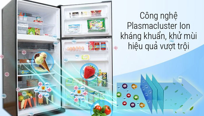 Plasmacluster Ion - công nghệ độc quyền trên tủ lạnh Sharp