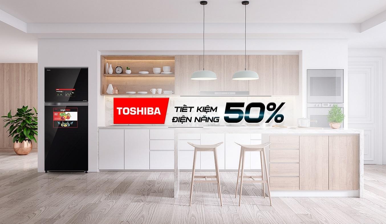 Tủ lạnh Toshiba Inverter 359 lít GR-AG41VPDZ (XK1) - Tủ lạnh Toshiba Inverter tiết kiệm 50% điện năng