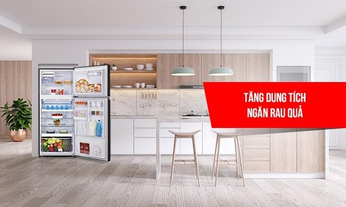 Tủ lạnh Toshiba Inverter 359 lít GR-AG41VPDZ (XK1) - Tủ lạnh tăng dung tích ngăn rau quả