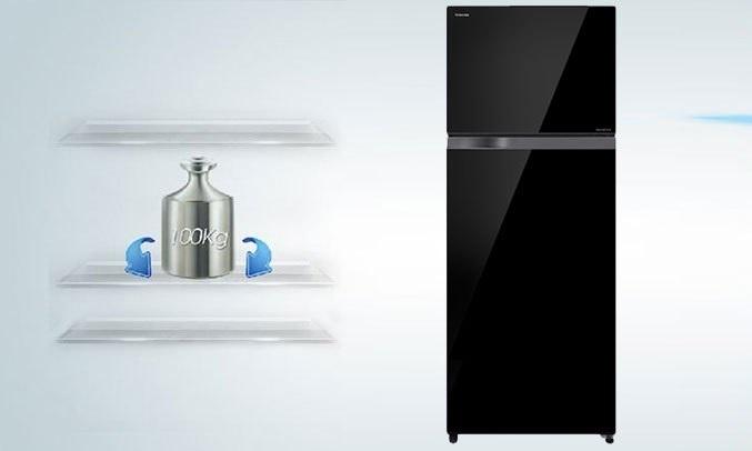 Tủ lạnh Toshiba Inverter 359 lít GR-AG41VPDZ (XK1) - Khay kính chịu lực bền bỉ