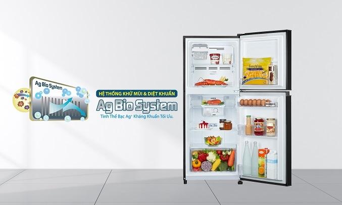 Tủ Lạnh Toshiba Inverter 194 lít GR-A25VM(UKG1) - Công nghệ Ag+ Bio