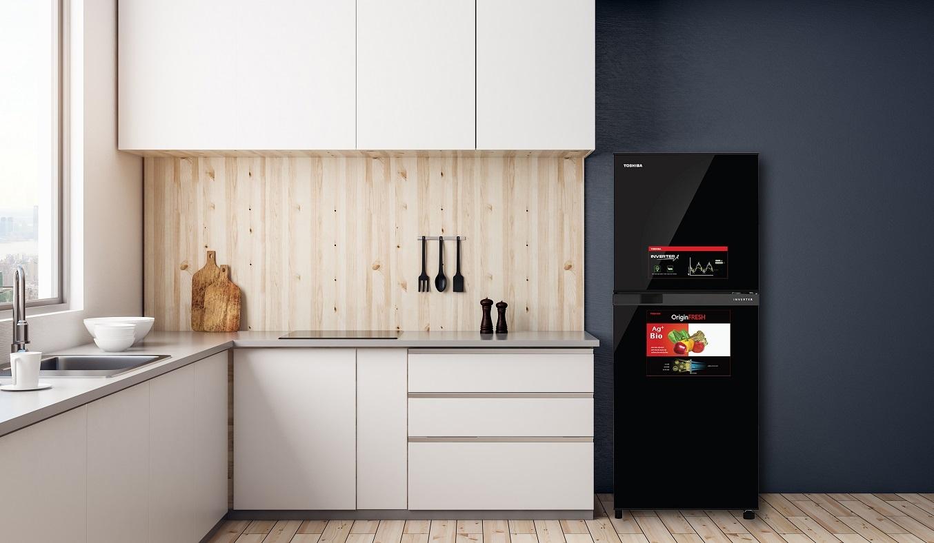 Tủ Lạnh Toshiba Inverter 194 lít GR-A25VM(UKG1) - Thiết kế sang trọng