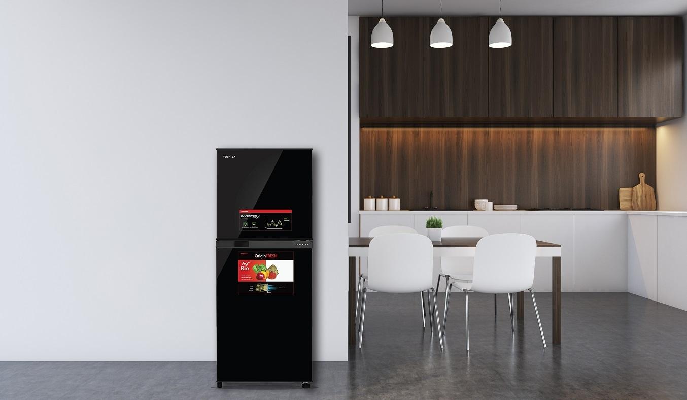 Tủ Lạnh Toshiba Inverter 194 lít GR-A25VM(UKG1) - tiết kiệm điện năng
