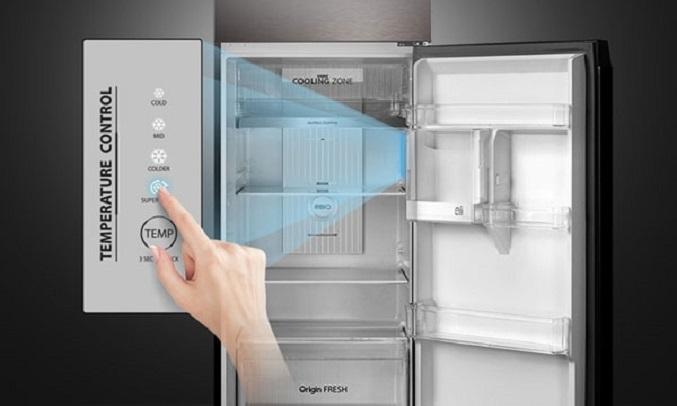Tủ lạnh Toshiba Inverter 338 lít GR-RT440WE-PMV(06)-MG - Bảng điều khiển