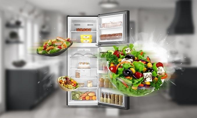 Tủ lạnh Toshiba Inverter 338 lít GR-RT440WE-PMV(06)-MG - Công nghệAir Fall Cooling