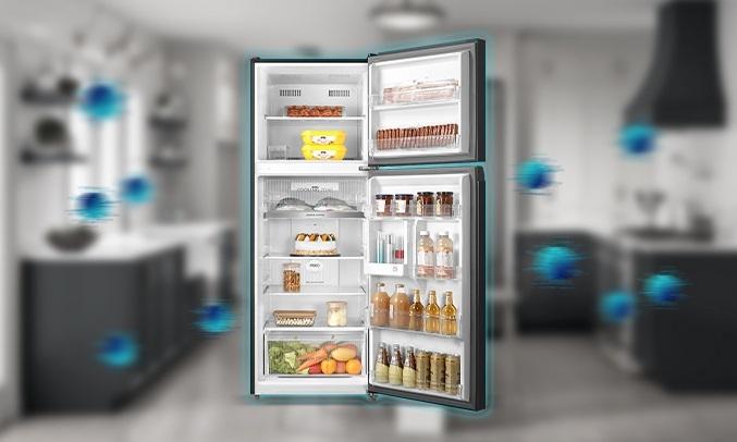 Tủ lạnh Toshiba Inverter 338 lít GR-RT440WE-PMV(06)-MG khử mùi diệt khuẩnPureBio