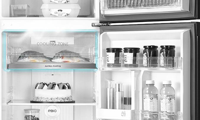 Tủ lạnh Toshiba Inverter 338 lít GR-RT440WE-PMV(06)-MG - Ngăn Cooling Zone