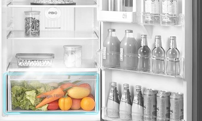 Tủ lạnh Toshiba Inverter 338 lít GR-RT440WE-PMV(06)-MG - Ngăn rau quả chỉnh ẩm