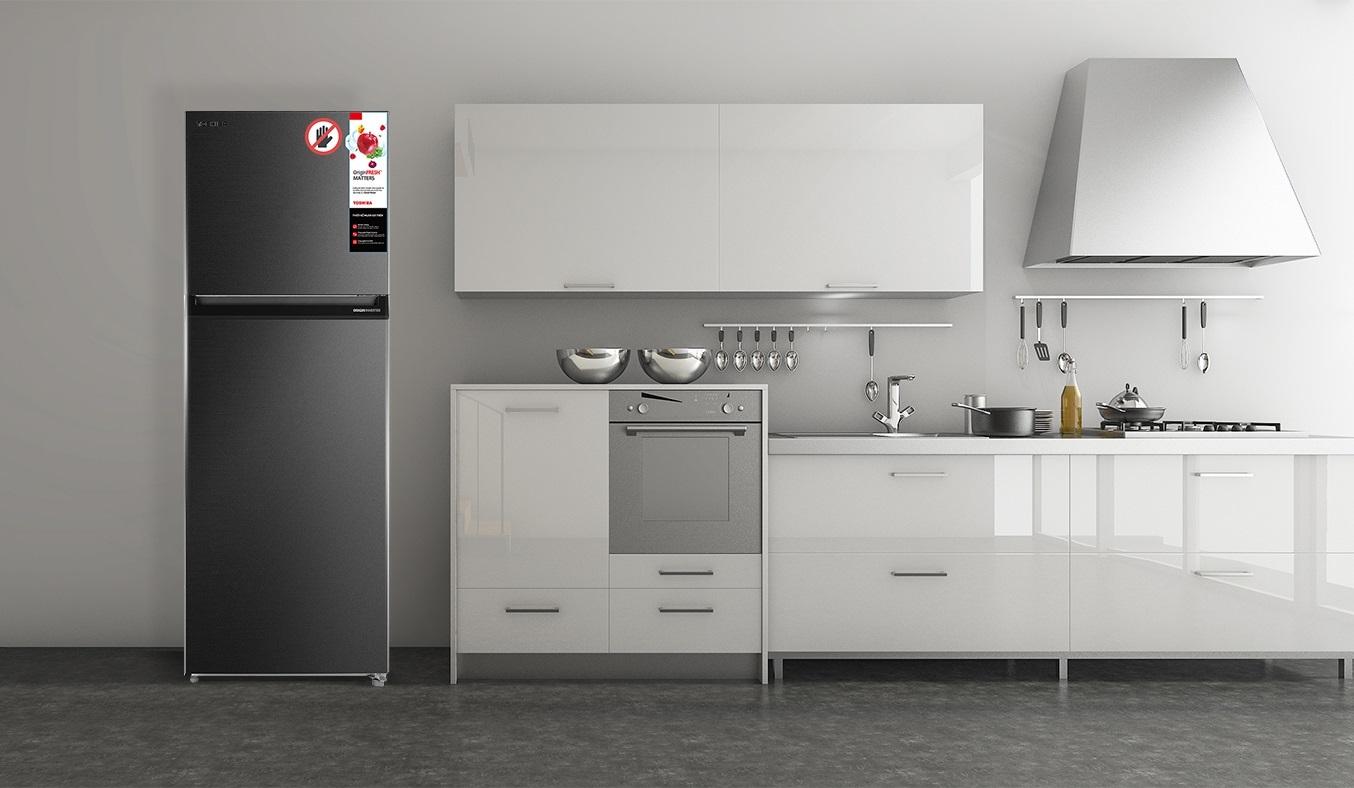 Tủ lạnh Toshiba Inverter 338 lít GR-RT440WE-PMV(06)-MG - Thiết kế cao cấp chống bám vân tay