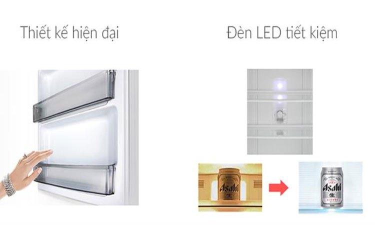 Tủ lạnh Panasonic 238 lít NR-BL267VSV1 sử dụng đèn LED tiết kiệm điện