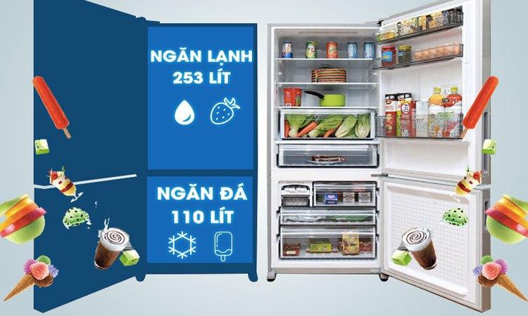 Tủ lạnh PANASONIC 363 lít NR-BX418VSVN dung tích lớn lưu trữ thực phẩm dồi dào