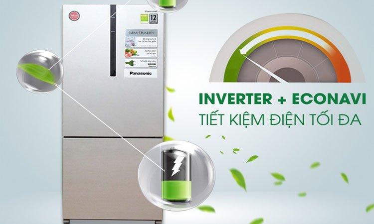 Tủ lạnh PANASONIC 363 lít NR-BX418VSVN tiết kiệm điện