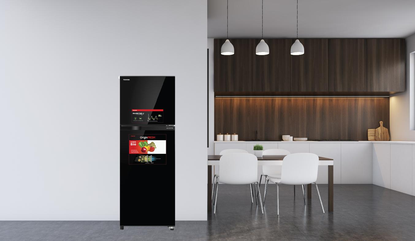 Tủ lạnh Toshiba Inverter 305 lít GR-AG36VUBZ - Công nghệ Inverter hiện đại, tiết kiệm 50% điện năng