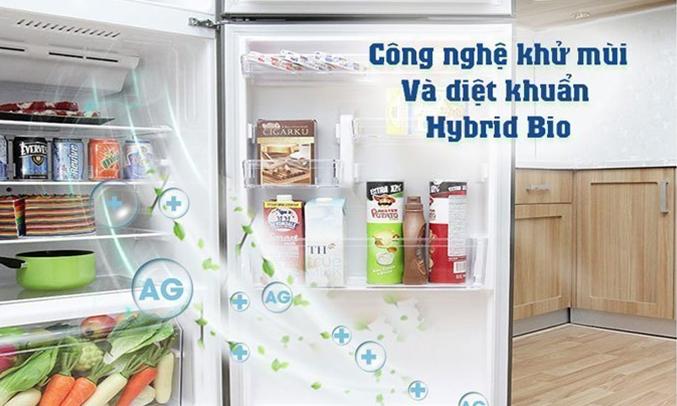 Tủ lạnh Toshiba GR-AG39VUBZ (XK1) màu đen khánh khuẩn, khử mùi