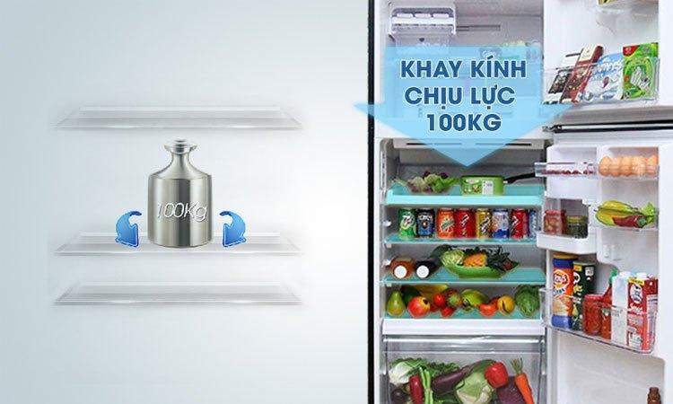 Tủ lạnh Toshiba 305 lít GR-MG36VUBZ (XK) có khay kính chịu lực bền bỉ, linh hoạt