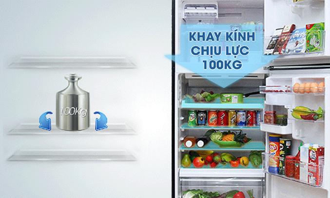Tủ lạnh Toshiba 409 lít GR-TG46VPDZ khay kệ linh hoạt