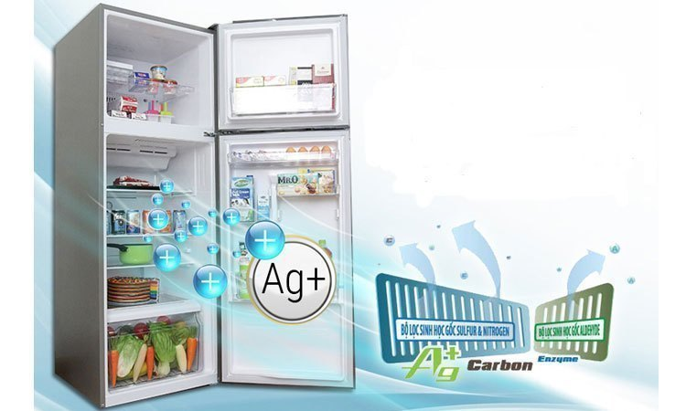 Tủ lạnh Toshiba Inverter 186 lít GR-M25VBZ(DS) khử mùi diệt khuẩn vượt trội