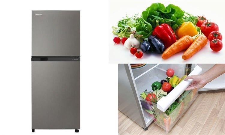 Tủ lạnh Toshiba Inverter 186 lít GR-M25VBZ(DS) ngăn đựng rau quả rộng thoải mái