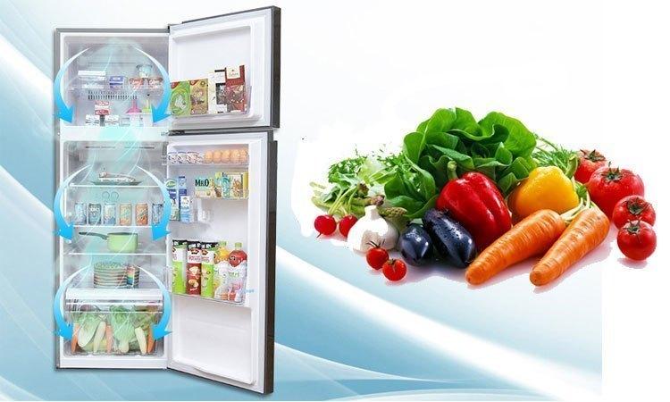 Tủ lạnh Toshiba Inverter 186 lít GR-M25VBZ(S) làm lạnh nhanh khắp các ngăn tủ