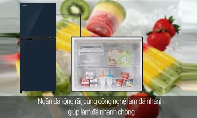 Tủ lạnh Toshiba GR-M25VUBZ(UB) 186 lít xanh đen công nghệ làm đá đông nhanh chóng