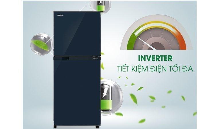 Tủ lạnh Toshiba GR-M25VUBZ(UB) 186 lít xanh đen tiết kiệm điện