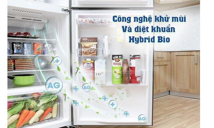 Tủ lạnh Toshiba GR-M25VUBZ(UB) 186 lít xanh đen khử mùi diệt khuẩn vượt trội