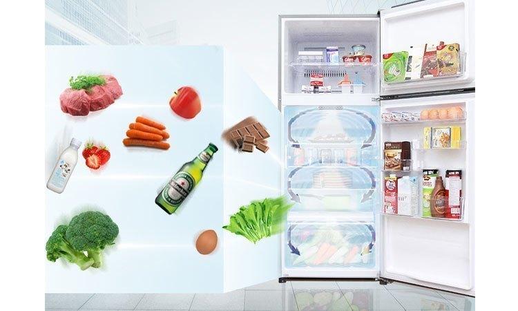 Tủ lạnh Toshiba GR-M25VUBZ(UB) 186 lít xanh đen làm lạnh nhanh khắp các ngăn tủ
