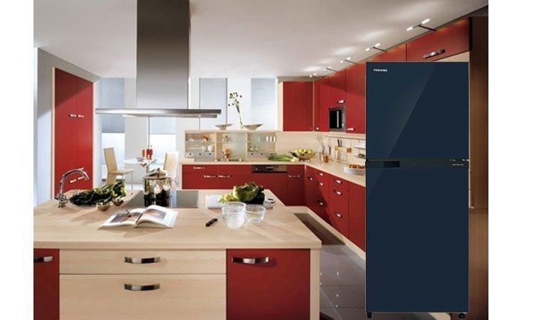 Tủ lạnh Toshiba GR-M25VUBZ(UB) 186 lít xanh đen kiểu dáng đẹp mắt, sang trọng