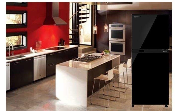 Tủ lạnh Toshiba GR-M25VUBZ(UK) 186 lít xanh đen kiểu dáng đẹp mắt, sang trọng