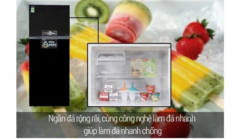Tủ lạnh Toshiba GR-M25VUBZ(UK) 186 lít màu đen công nghệ làm đá đông nhanh chóng