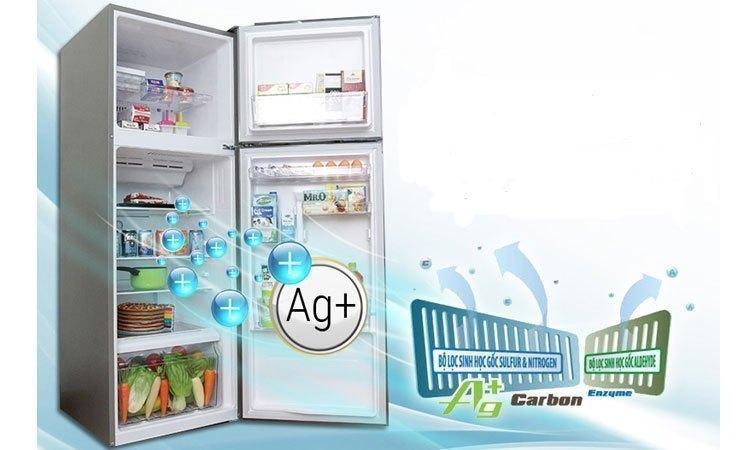 Tủ lạnh Toshiba GR-M28VBZ(S) màu bạc sang trọng, hiện đại
