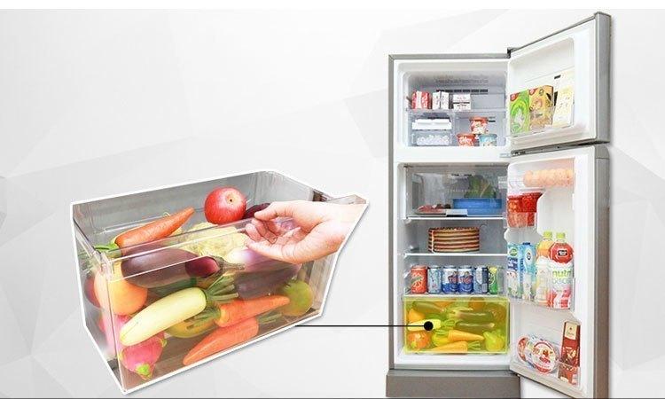 Tủ lạnh Toshiba GR-M28VBZ(S) ngăn đựng rau quả rộng thoải mái