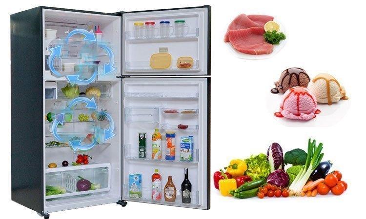 Tủ lạnh Toshiba GR-M28VUBZ(UB) 226 lít xanh đen bảo quản thực phẩm tươi ngon xanh mát